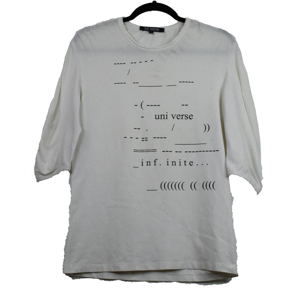 "Raf Simons Universe 3/4th sleeve t-shirt S/S05 ""History of My World"" 50/Large"