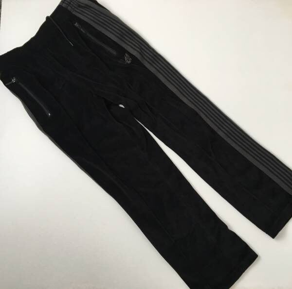 Needles x Beams black velour trackies xs fits 28-30
