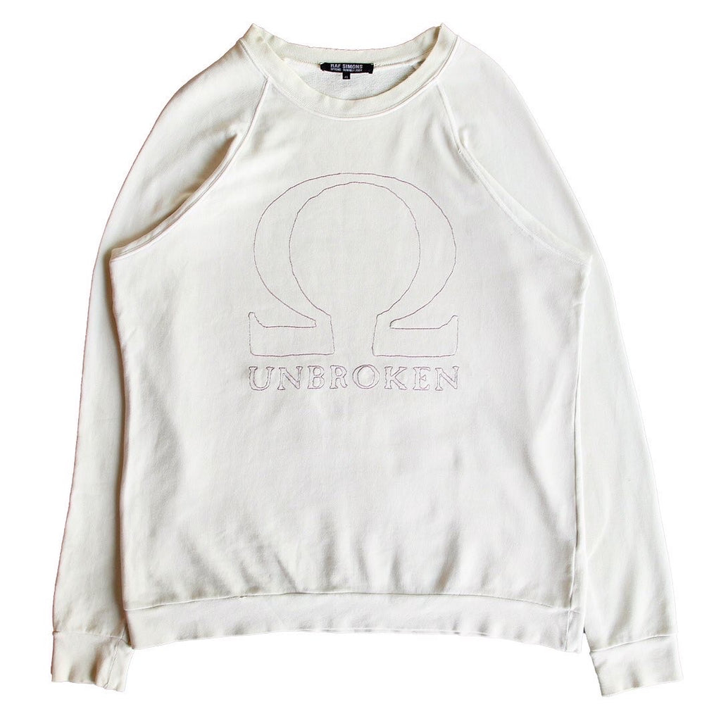 "INQUIRE Raf Simons ""Omega"" crewneck S/S04 ""May The Circle be Unbroken"" 46/OS (oversized)"