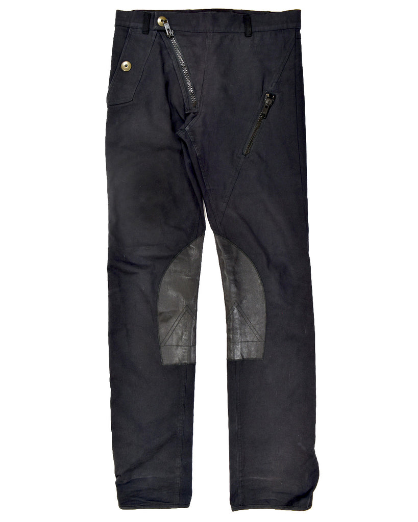 "Raf Simons leather insert biker trousers S/S05 ""History of the World""  46/30"