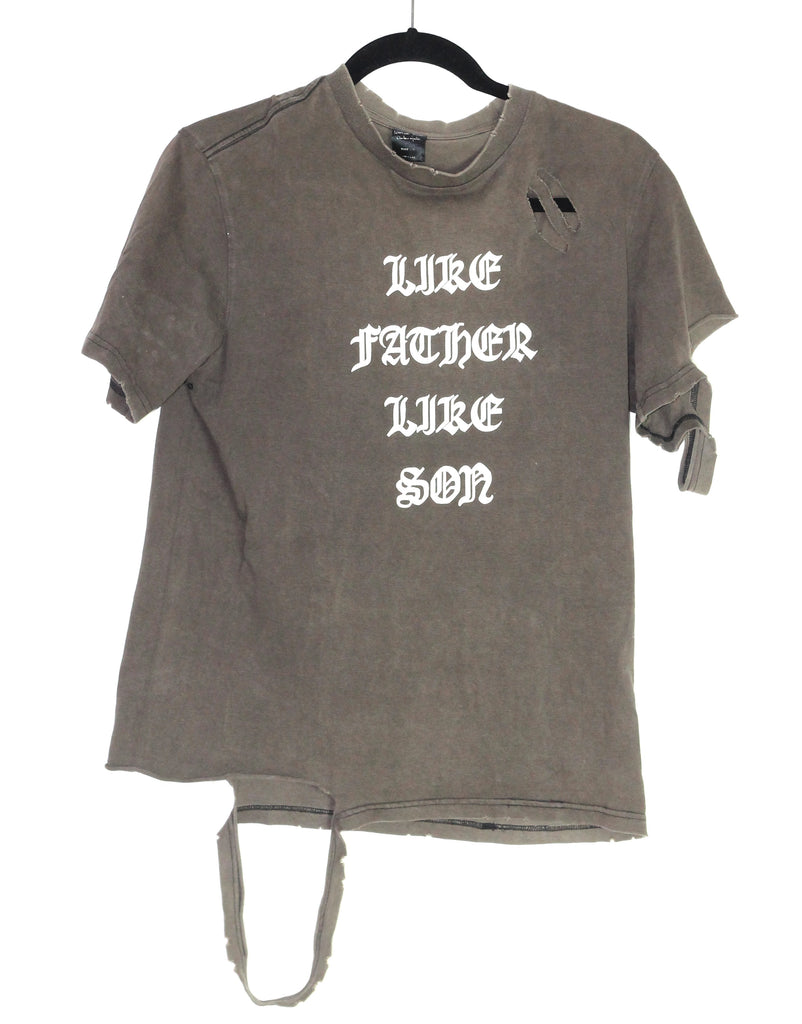 "Number (n)ine ""Like Father Like Son"" t-shirt size 2"