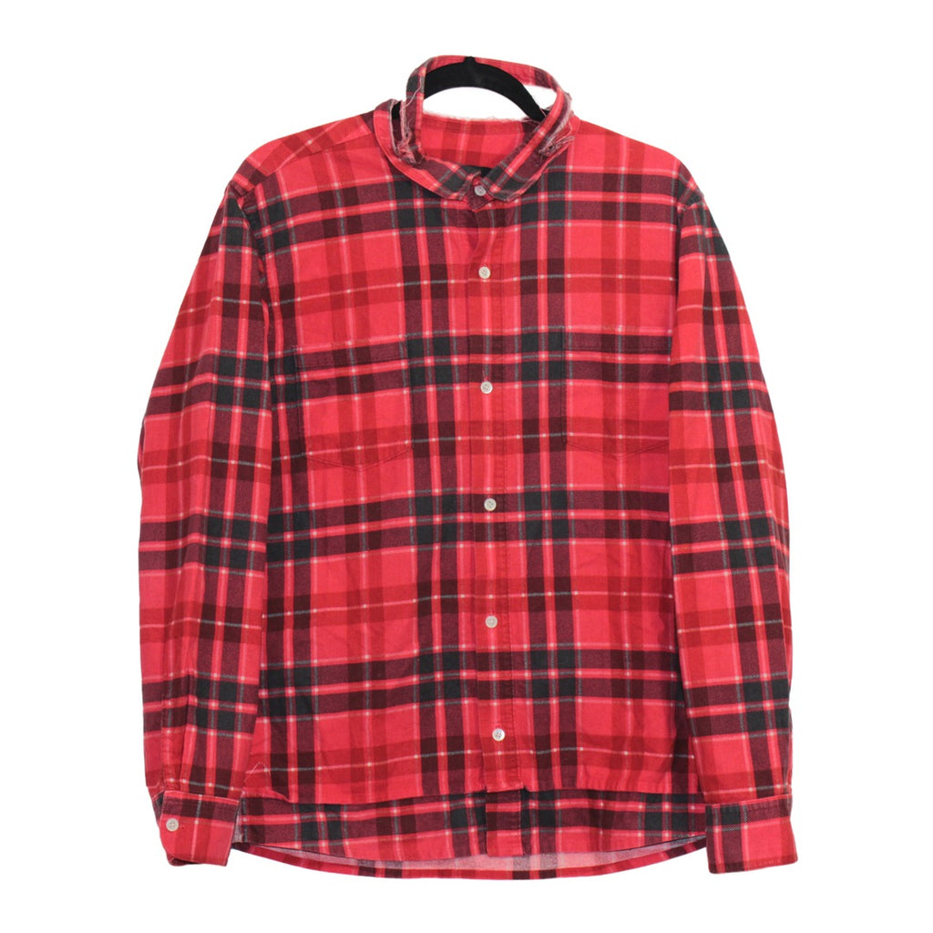 "Undercoverism double layered distressed flannel with reversed seams S/S03 ""Scab"" Large"