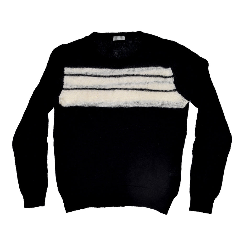 "INQUIRE homme black mohair sweater A/W06 ""Navigate"" Medium"