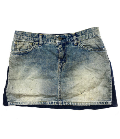 Undercover distressed denim hybrid t-shirt skirt 2