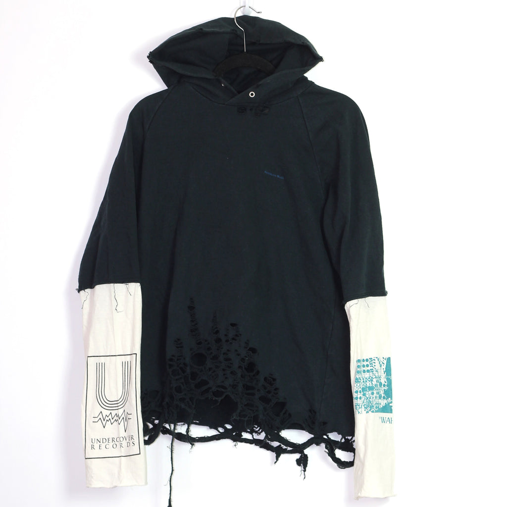 "Undercoverism ""Wahnfrieden"" distressed hoodie S/S06 ""T"" 3/Large"