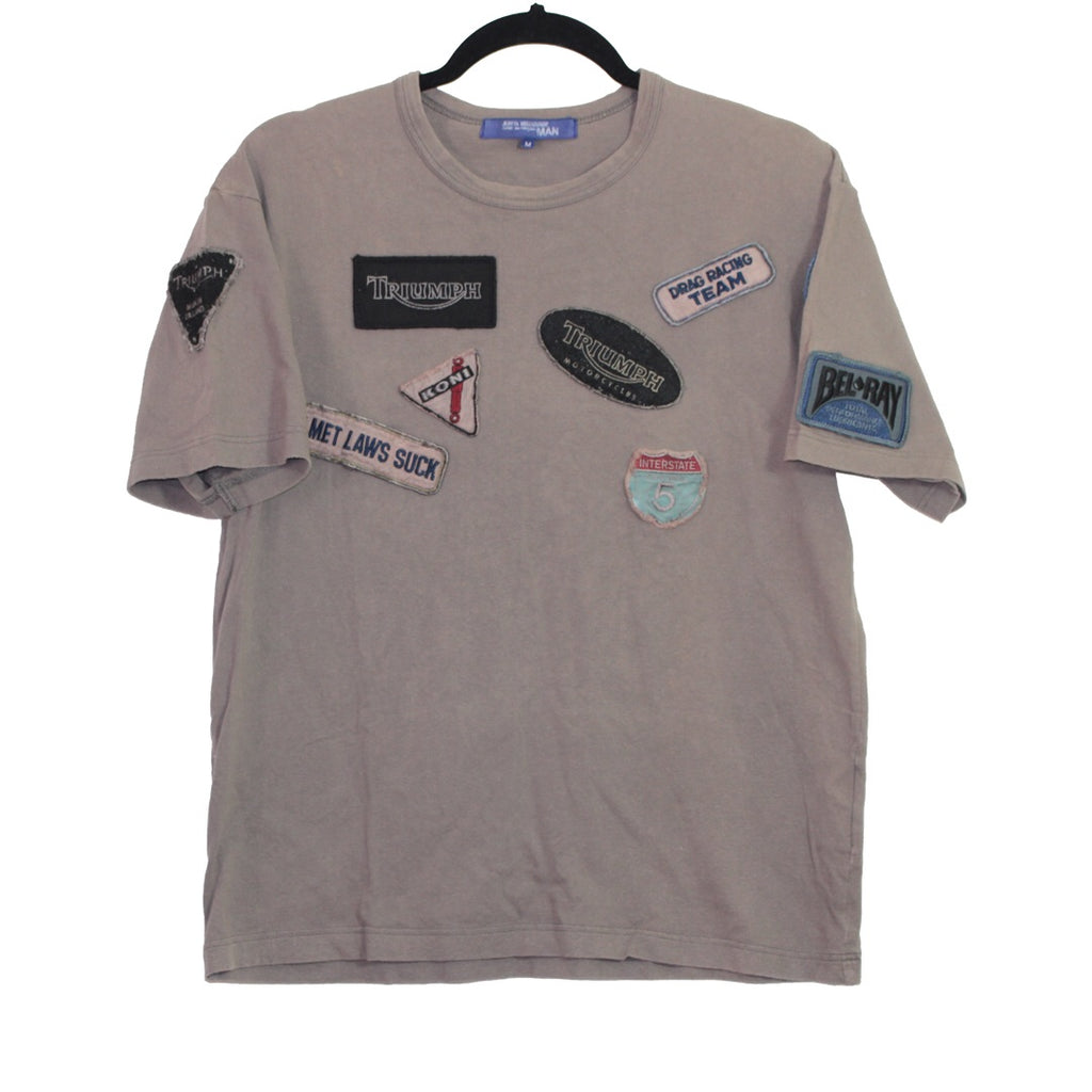 "Junya Watanabe ""Triumph motorcycles"" patched T-shirt"