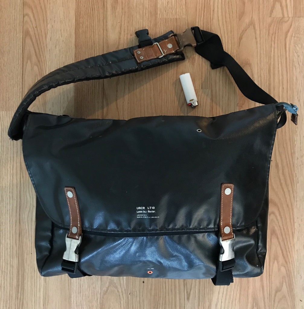 "Undercover ""less but better"" messenger bag"