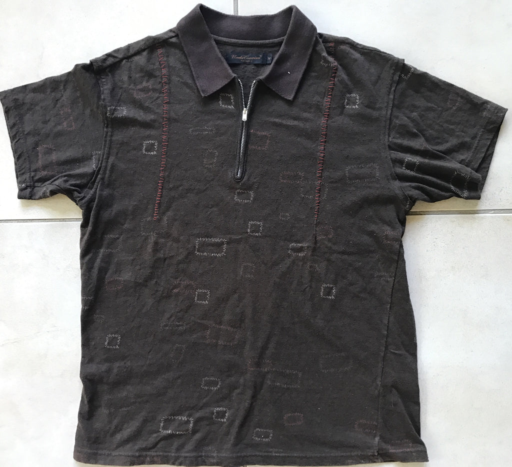 "Undercover zip short sleeve collared shirt ""Scab"" 2003 Medium"