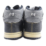 Nike dunk high black denim 2006 10.5