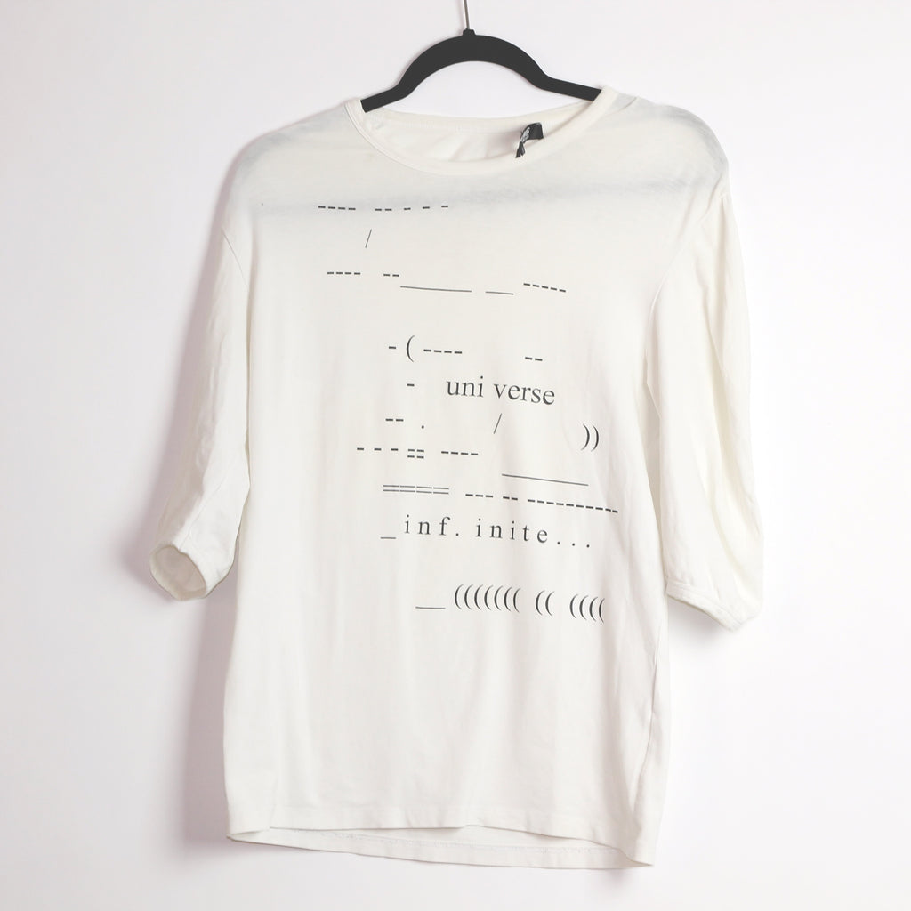 "Raf Simons ""Universe"" T-Shirt S/S05 ""History of My World"" Large"
