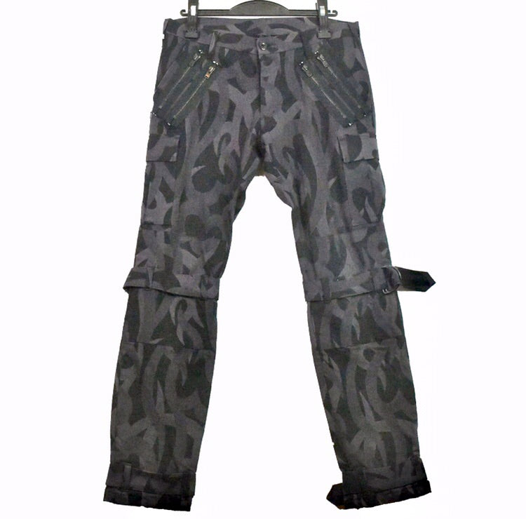 "Number (N)ine heart camo bondage cargo flight pants S/S04 ""Give Peace a Chance"" 3/30"