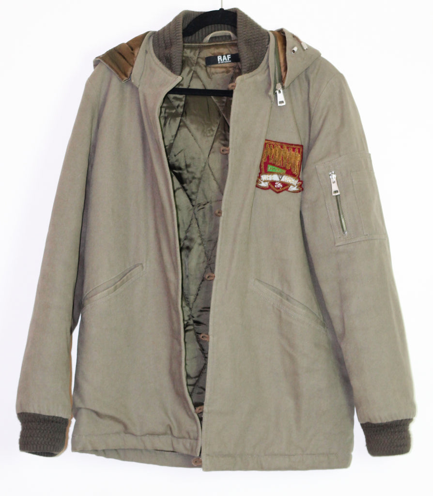 Raf by Raf hooded bomber with embroidered patch Medium