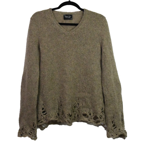 Number nine distressed knit sweater 2/Medium