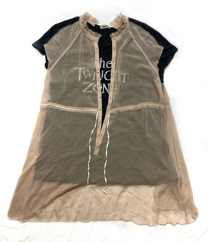 "Undercover ""The Twilight Zone"" sheer layer hybrid t-shirt S/S2012"