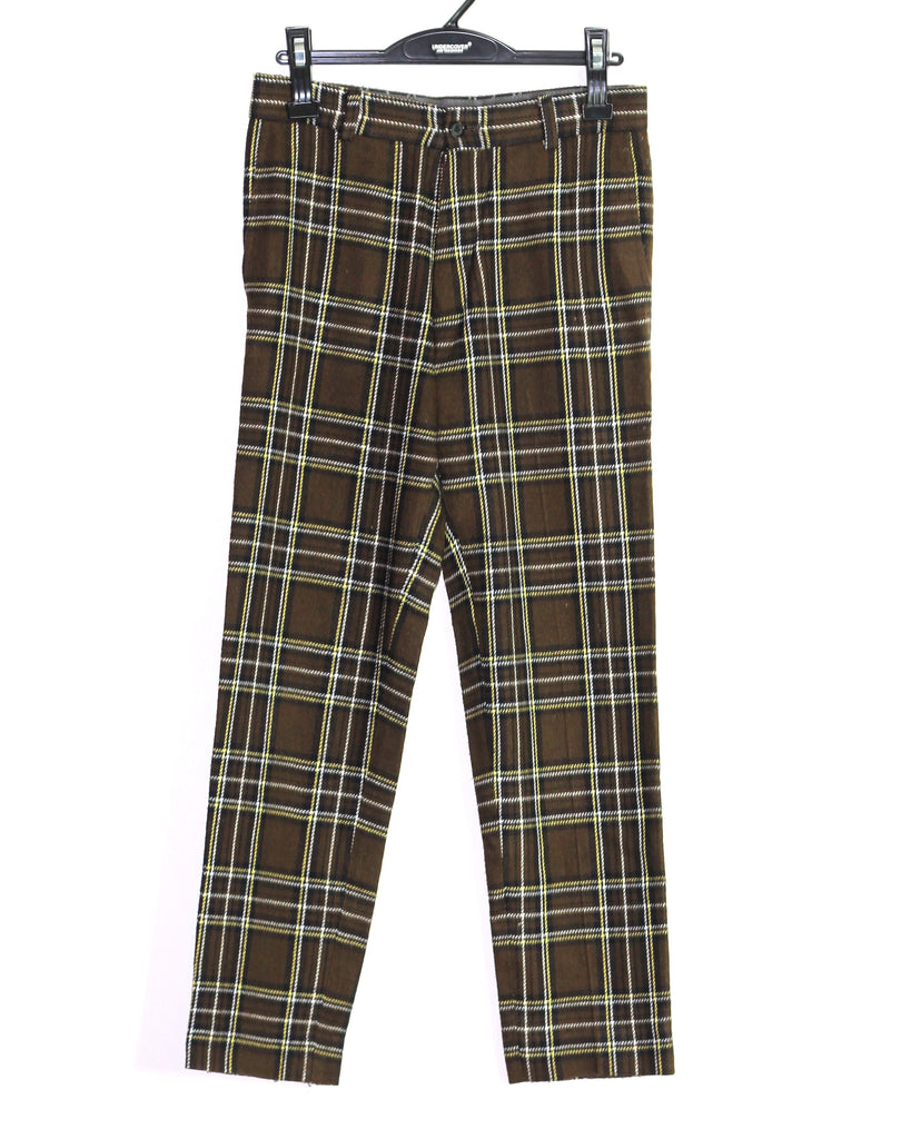 "Undercoverism brown flannel trousers A/W98-99 ""Ambivalence"" 30"