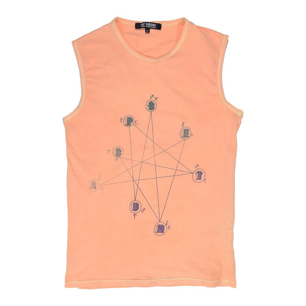 "INQUIRE Raf Simons Natal Chart Tank Top S/S04 ""May The Circle Be Unbroken"""