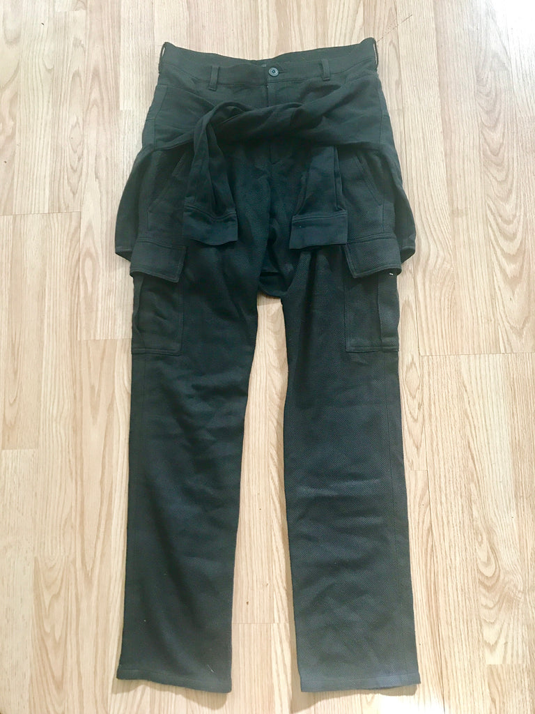 Undercoverism cargo trousers with built in flannel.