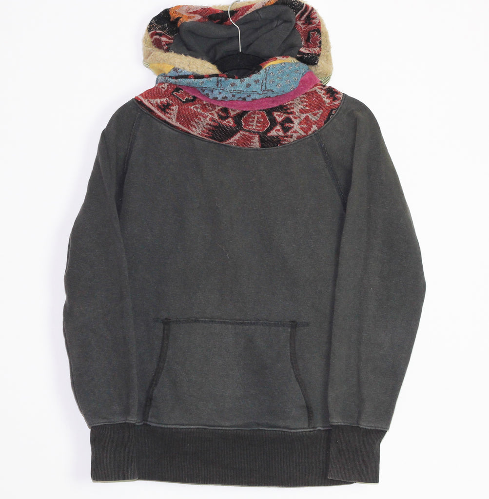 Kapital multi fabric  shawl hoodie Small