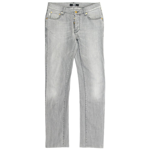 Raf by Raf Simons grey  washed denim 30