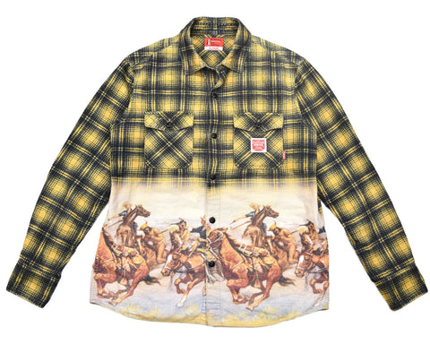 Neighborhood Japan printed flannel Small