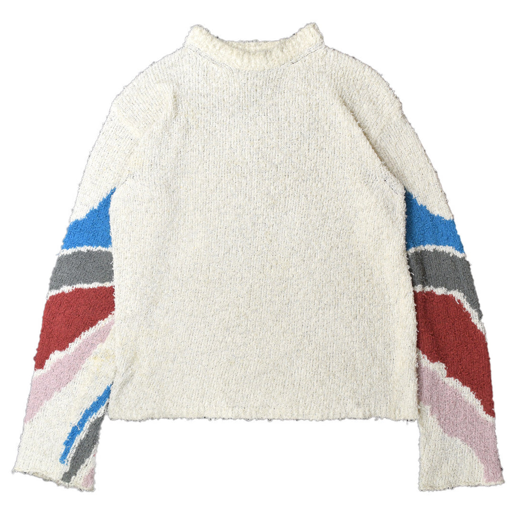 "INQUIRE Kiko kostadinov intarsia knit sweater A/W18 ""Obscured by Clouds"" Large"