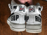 Supreme x  white Nike Air Force 1 size 12