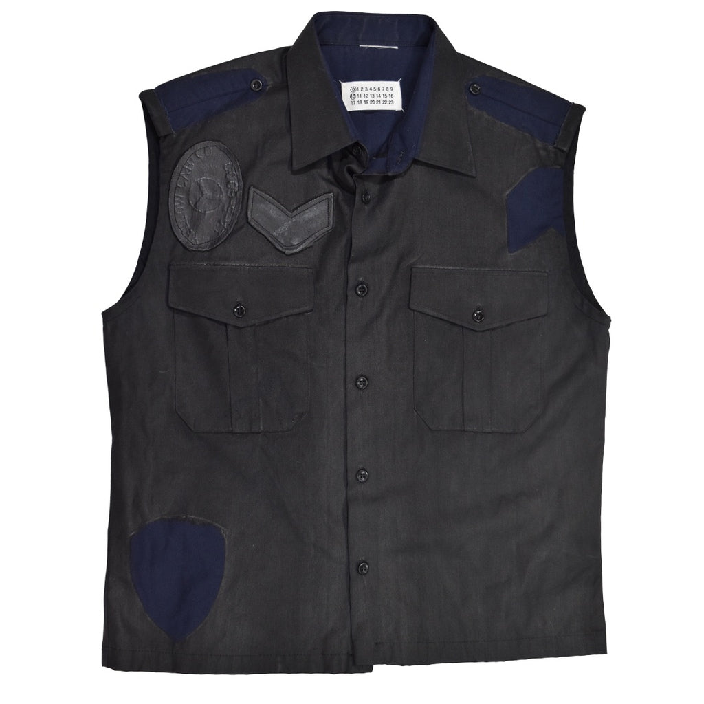 Maison Martin Margiela painted Military Vest 2003 48/Medium