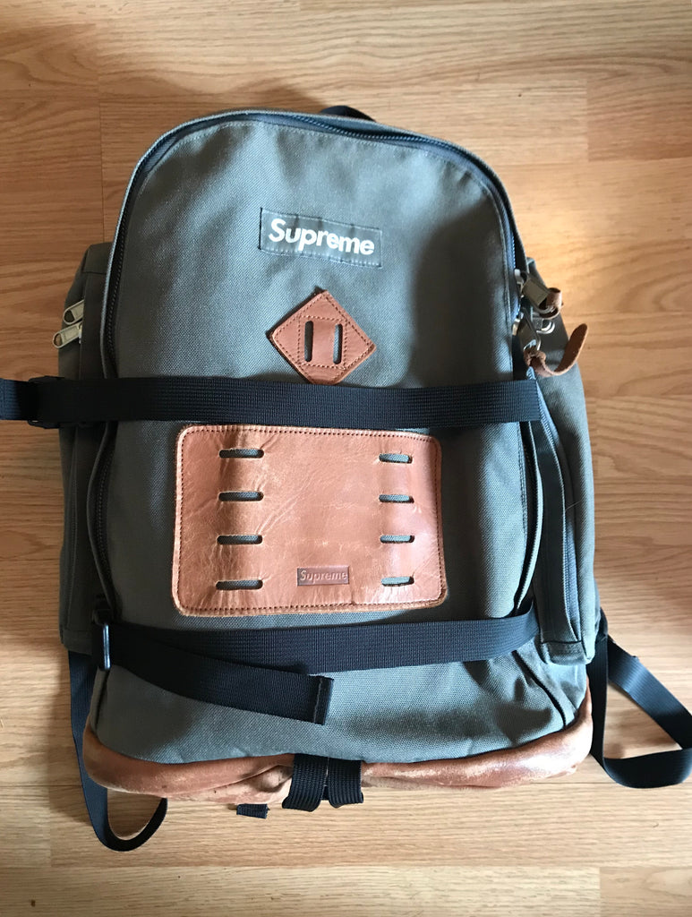 Supreme olive backpack A/W2008