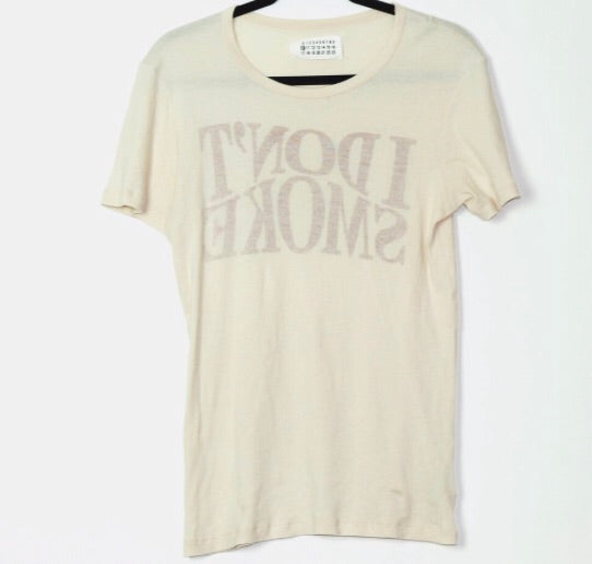 "Margiela ""I don't smoke"" t-shirt 2006 46/small"