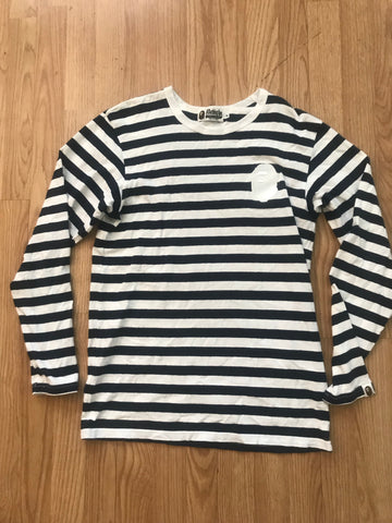 Bape striped long sleeve Medium