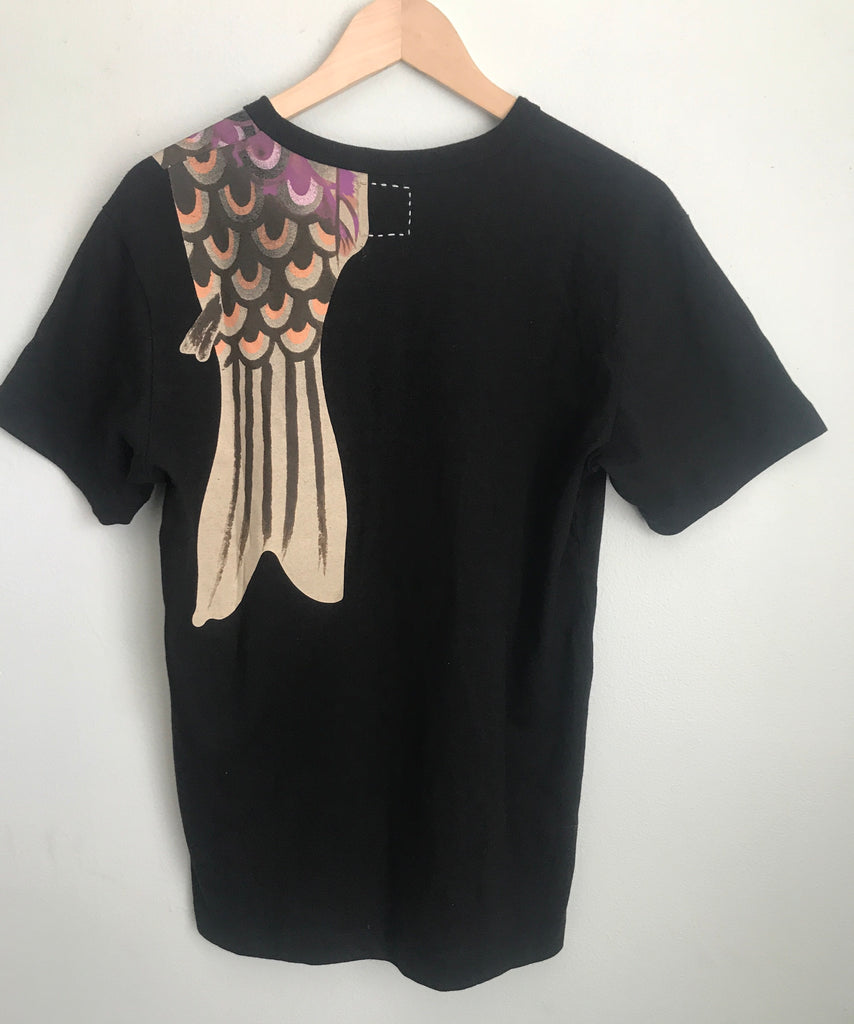 Visvim painted fish tee Medium