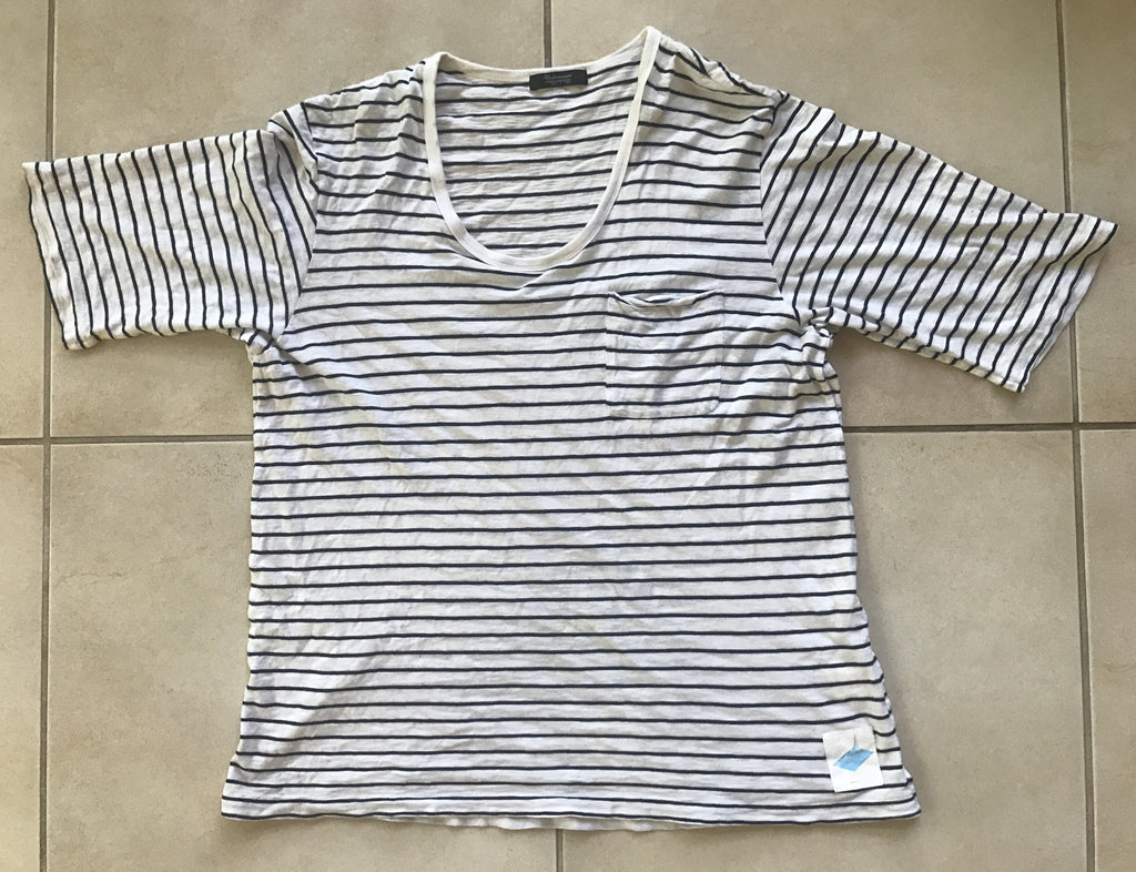 "Undercoverism heathered stripe tee ""under an"" 2011"
