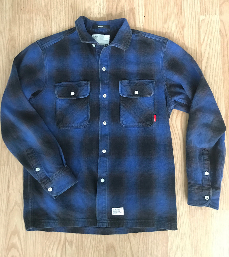 "W)taps 2009 ""vatos"" flannel Medium"