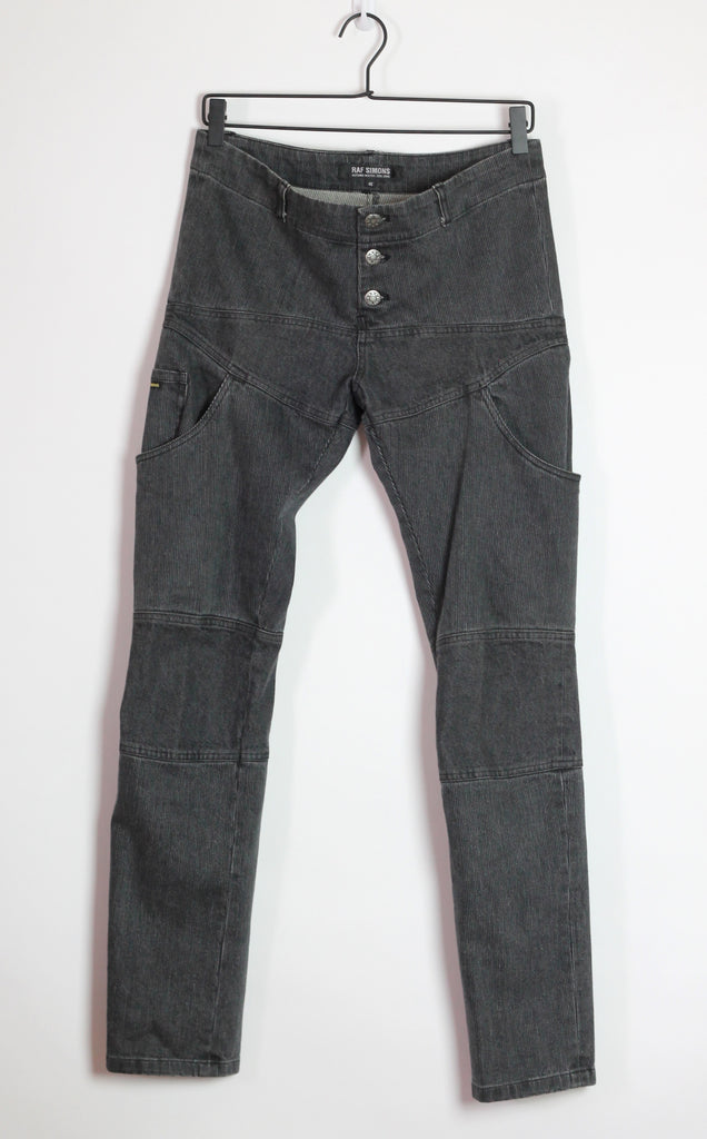 "Raf Simons reconstructed corduroy/denim carpenter pants  A/W05-06 ""History of My World 46/30"