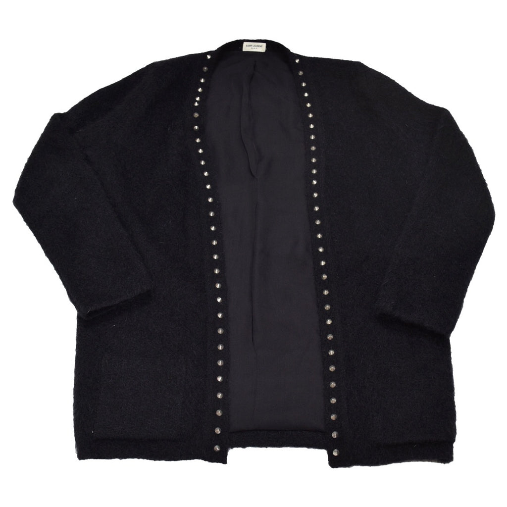 Saint Laurent mohair studded cardigan Medium