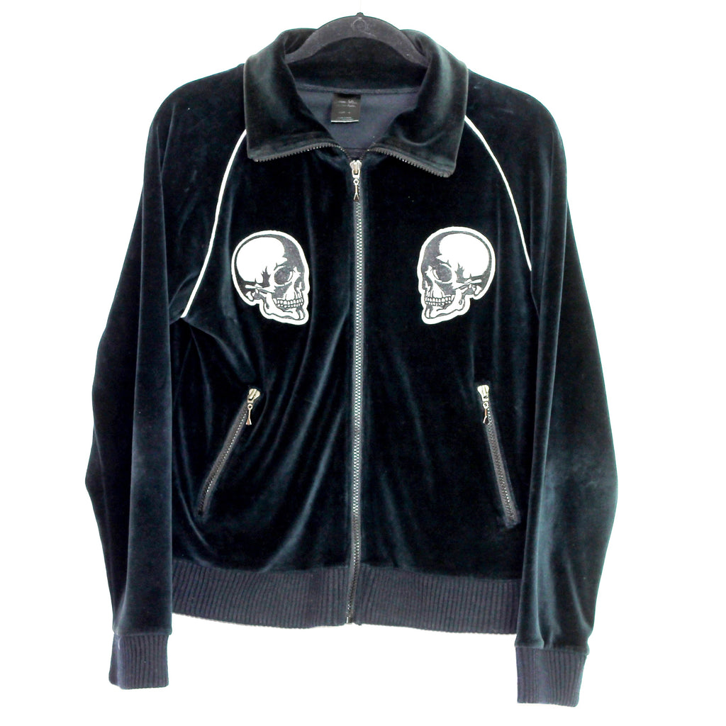 "Number (N)ine velour skull track top S/S04 ""Dream Baby Dream"" Medium"