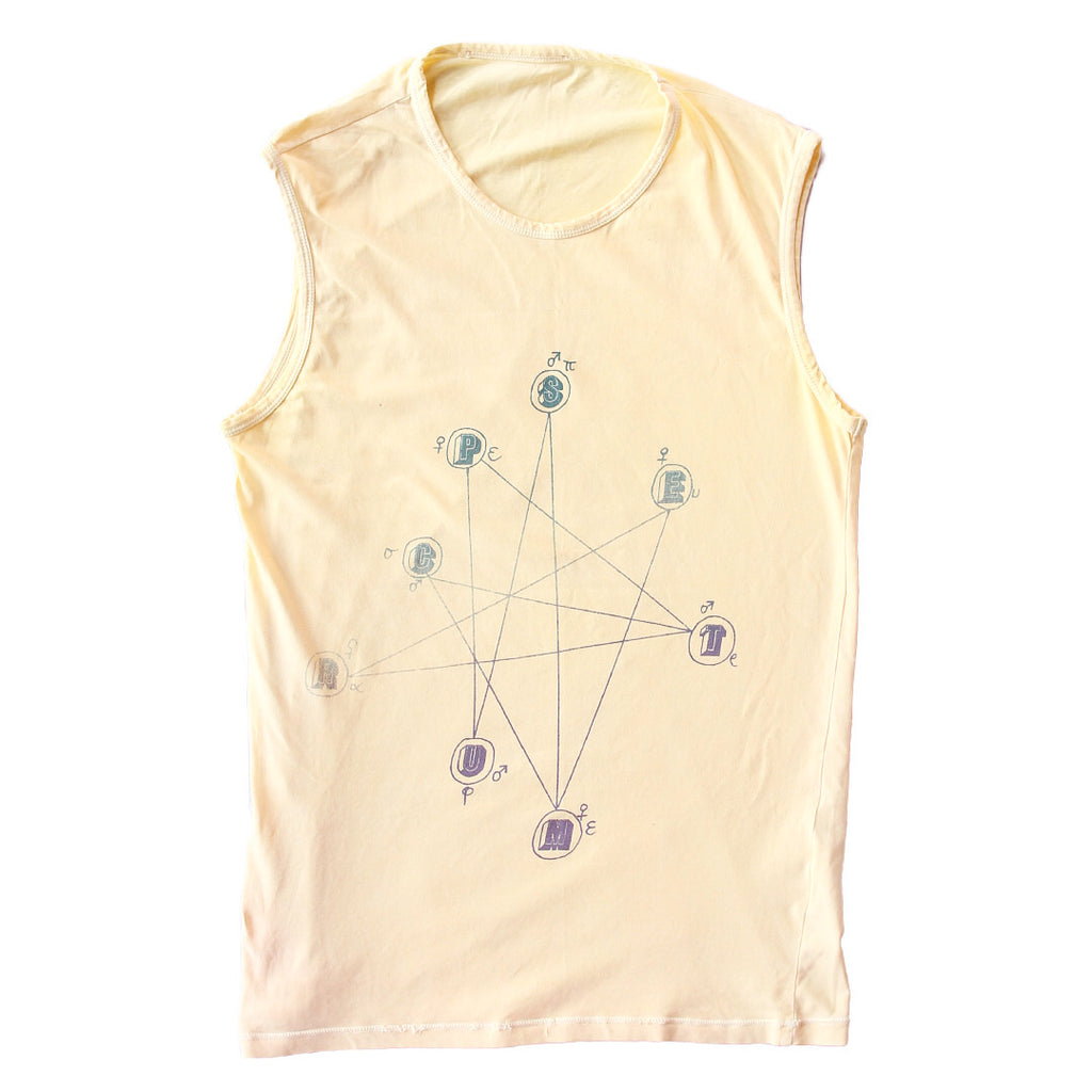 "INQUIRE Raf Simons Natal Chart Tank Too S/S04 ""May The Circle Be Unbroken"""