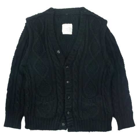 "Undercover cable""Small Parts"" knit sweater A/W98-99 ""Exchange"" XL"