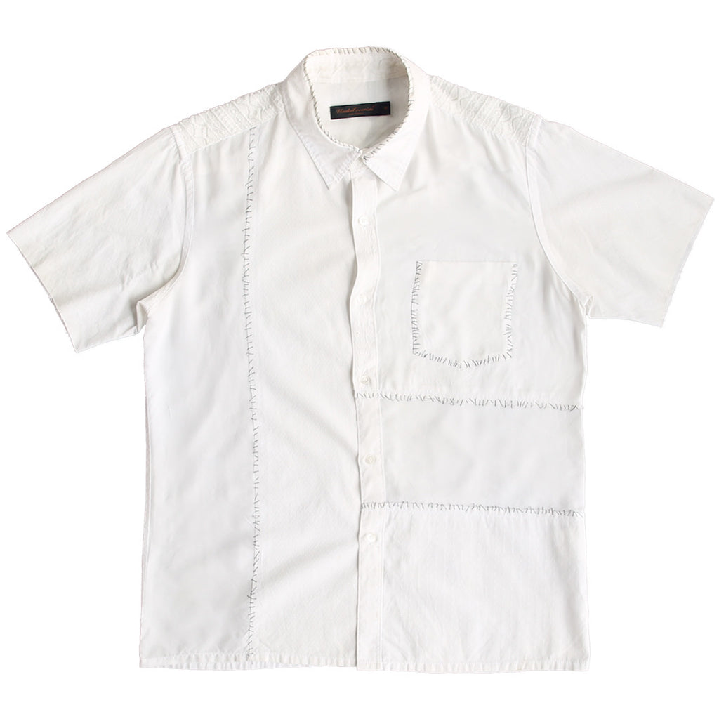 "INQUIRE Undercoverism Silk Paneled Hand Stitched Lace detailed buttonup shirt S/S03 ""Scab"" Medium"