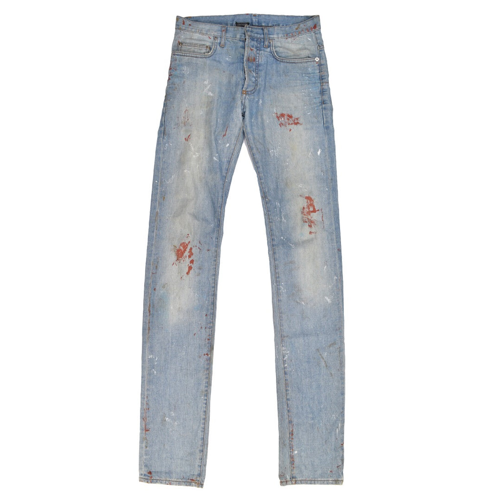 Dior blood splatter denim 30