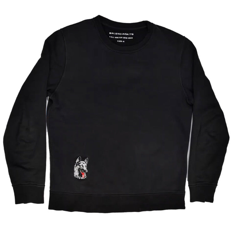 INQUIRE Balenciaga  Crewneck with German Shepard embroidered patch A/W12 Medium