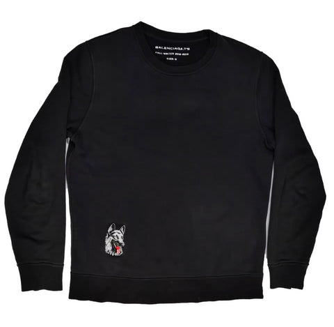 NOT FOR SALE Balenciaga  Crewneck with German Shepard embroidered patch A/W12 Medium