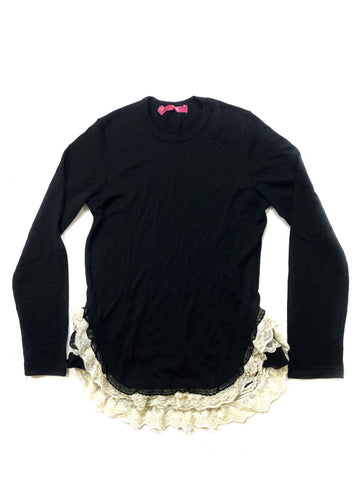 Junya Watanabe long sleeve with lace hem
