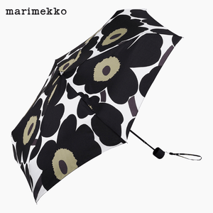 Marimekko Pieni Unikko Umbrella Manual 038654-030 - Black Poppy Flower