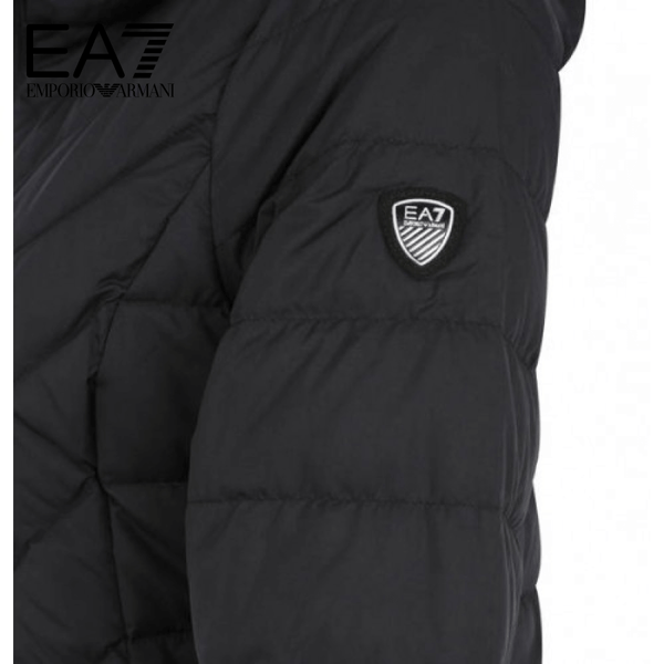 EA7 Down Jacket, hood, compressible, lightweight, for women | - 8051518400761