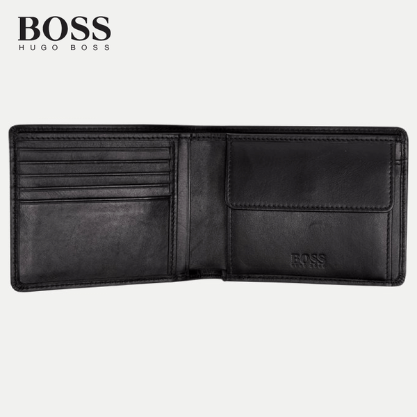 Hugo Boss - Asolo Men's Wallet Bill-fold Leather Coin Gift Boxed - Black (50250331)