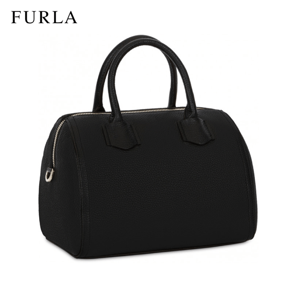 Furla Alba Small Satchel Women's Handbag - Black