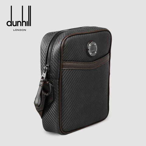 Dunhill - Chassis City Reporter Men's Leather Crossbody Bag / Shoulder Bag - Navy (L3v595N)