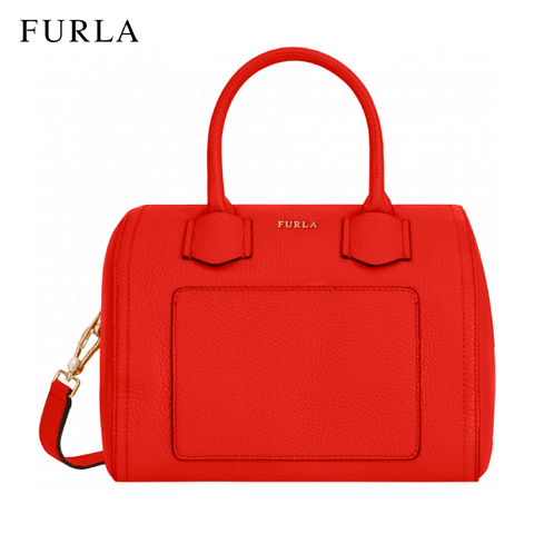 Furla Alba Small Satchel Women's Handbag - Kiss Red