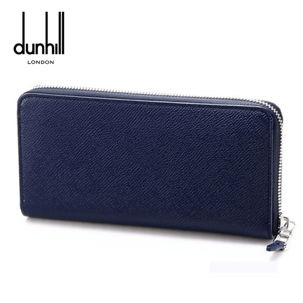 Dunhill - Cadogan Ziparound Coat Men's Leather Wallet - Navy Blue (L2W218N)